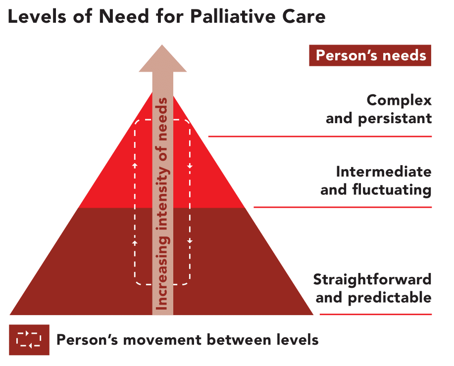 Level of need for palliative care
