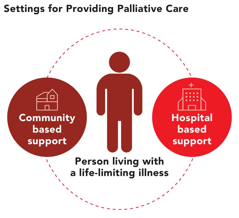 Settings for providing palliative care